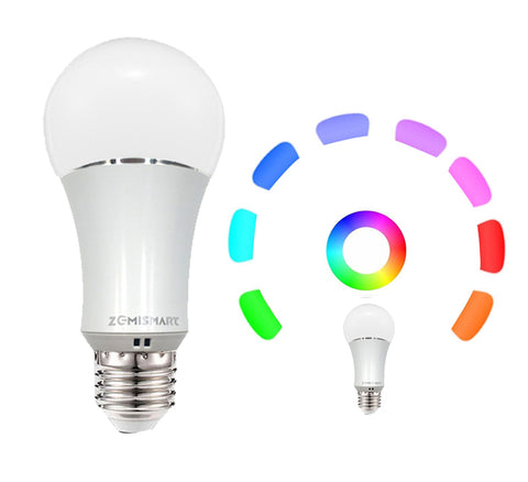 Dimmable E27 RGB LED Bulb Light Voice Control by Alexa Echo Google Home 2.4G WfiFi Control by APP