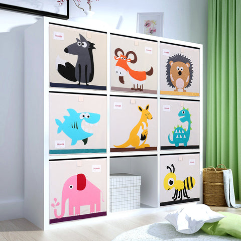 3D Embroider Cartoon Animal Fold Storage Organizer Box Haojianxuan AliExpress - Periwinkle Online