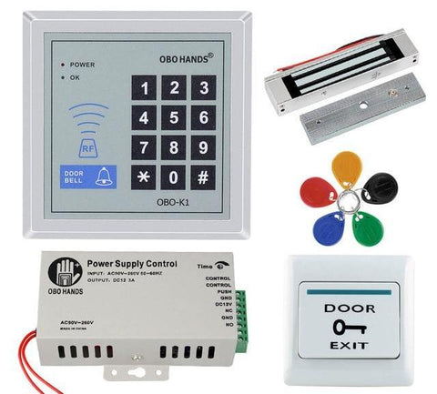 Free Shipping | 180kg Magnetic Lock - RFID Keypad Door Access Control System (Kit 3) Obo Hands - iWynx