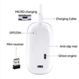 imice Rechargeable Wireless Mouse 2400DPI Slient USB 2.4G Built-in Lithium Battery