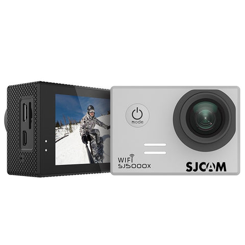 SJCAM SJ5000X Elite WiFi 4K 24fps 2K30fps Gyro Sports DV 2.0 LCD NTK96660 Diving 30m Waterproof Action Camera - Silver