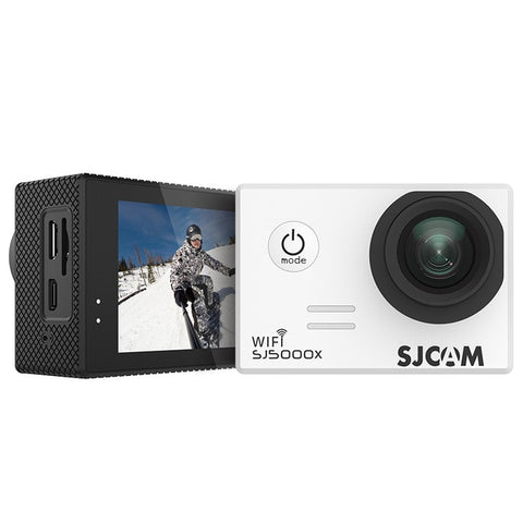 SJCAM SJ5000X Elite WiFi 4K 24fps 2K30fps Gyro Sports DV 2.0 LCD NTK96660 Diving 30m Waterproof Action Camera - White