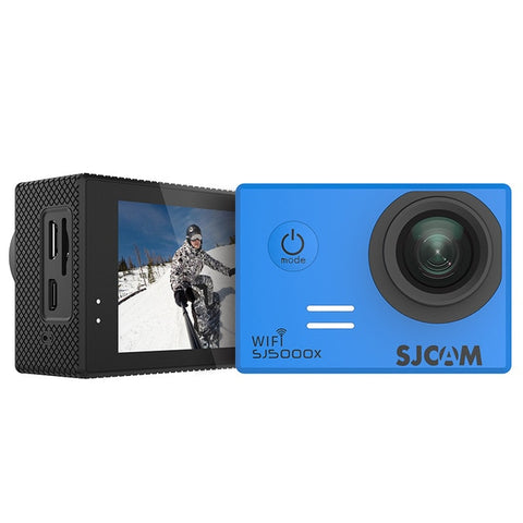 SJCAM SJ5000X Elite WiFi 4K 24fps 2K30fps Gyro Sports DV 2.0 LCD NTK96660 Diving 30m Waterproof Action Camera - Blue