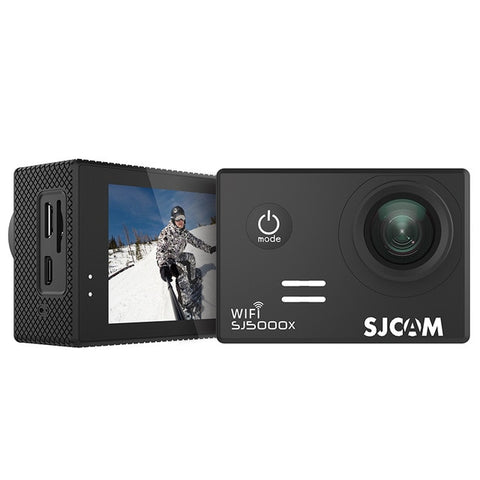 SJCAM SJ5000X Elite WiFi 4K 24fps 2K30fps Gyro Sports DV 2.0 LCD NTK96660 Diving 30m Waterproof Action Camera - Black
