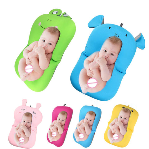 Newborn Support Cushion Foldable Baby Bath Tub and Mat