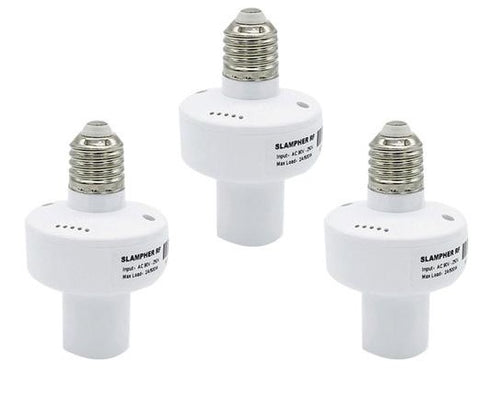 Free Shipping | 3pcs E27 WiFi Light Bulb Holder Slampher RF433MHz APP  IOS Android Sonoff - iWynx
