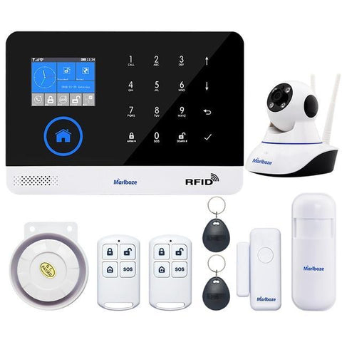 Marlboze Switchable Wireless WIFI GSM GPRS Home Security Alarm System PG-103 - Set D