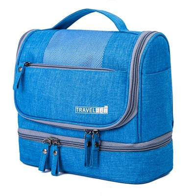 Waterproof Double Layer Travel Organizer Carry On Case (Blue)