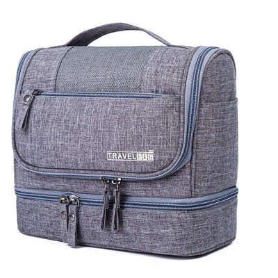 Waterproof Double Layer Travel Organizer Carry On Case (Gray)