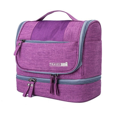 Waterproof Double Layer Travel Organizer Carry On Case (Purple)