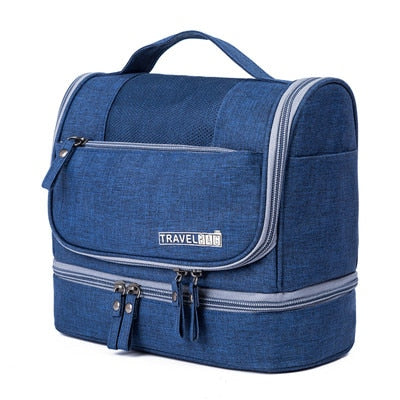 Waterproof Double Layer Travel Organizer Carry On Case (Deep Blue)
