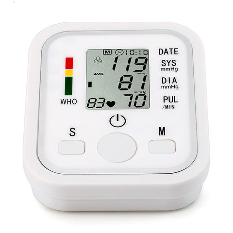 Home Health Care Digital Lcd Upper Arm Blood Pressure Monitor