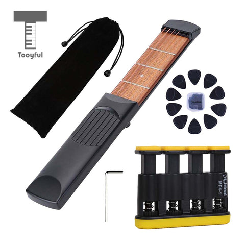 Free Shipping | 4-Fret 6-Strings Right-Handed Travel Pocket Guitar Finger Exercise Tooyful - iWynx