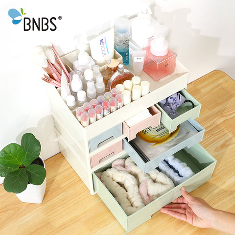 Creative Combinable Desktop Storage Box Makeup Organizer