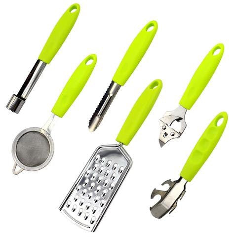 6in1 multifunction kitchenware sets opener peeler dish clip Mesh Strainer opener grater Findking AliExpress - Periwinkle Online