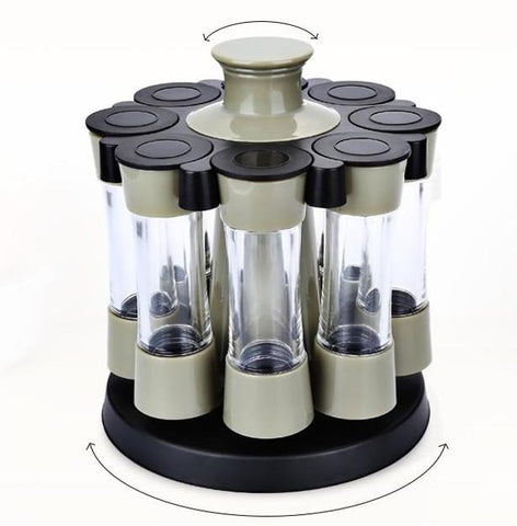 Free Shipping | 8pcs Rotary Spice Container OEM - iWynx
