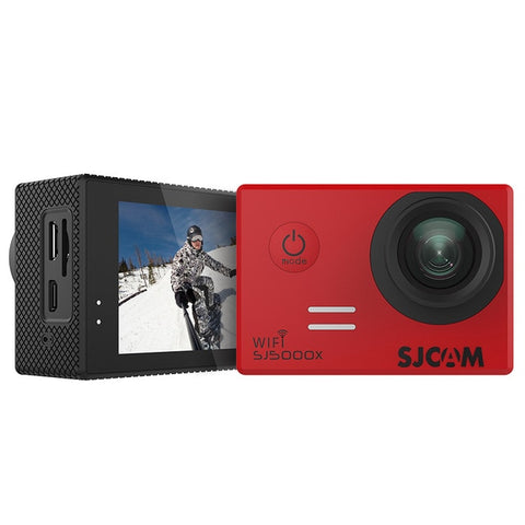 SJCAM SJ5000X Elite WiFi 4K 24fps 2K30fps Gyro Sports DV 2.0 LCD NTK96660 Diving 30m Waterproof Action Camera - Red