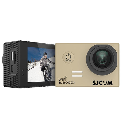 SJCAM SJ5000X Elite WiFi 4K 24fps 2K30fps Gyro Sports DV 2.0 LCD NTK96660 Diving 30m Waterproof Action Camera - Gold
