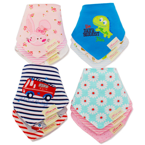 Cotton Cartoon Baby Bandana Bibs for born (3pcs)