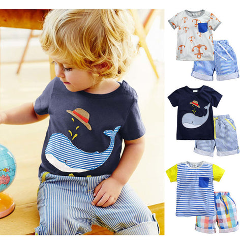 Free Shipping | 100% Cotton Baby Summer Baby Clothing Set for Boys OEM - iWynx