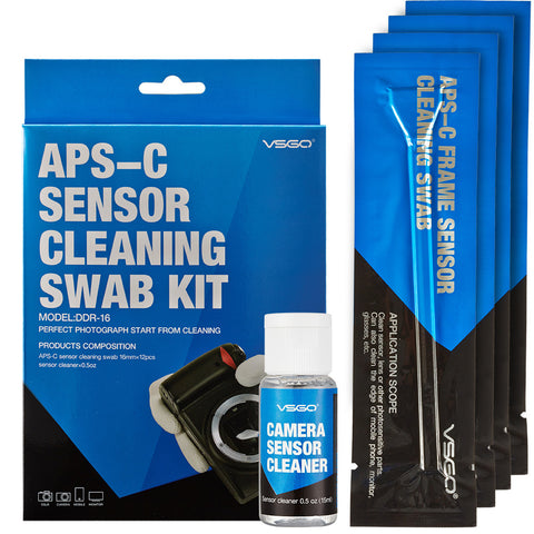 DSLR Sensor Cleaning Swabs Kit 12pcs with Liquid Cleaner Solution - Periwinkle Online