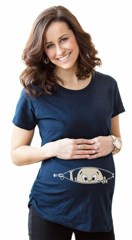 Women's T-shirts Cartoon Maternity Top