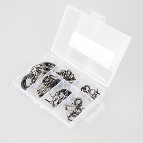 Free Shipping | 35x Fishing Rod Stainless steel Guide Tip Top Ring Eye Repair Kit / Rod OEM - iWynx