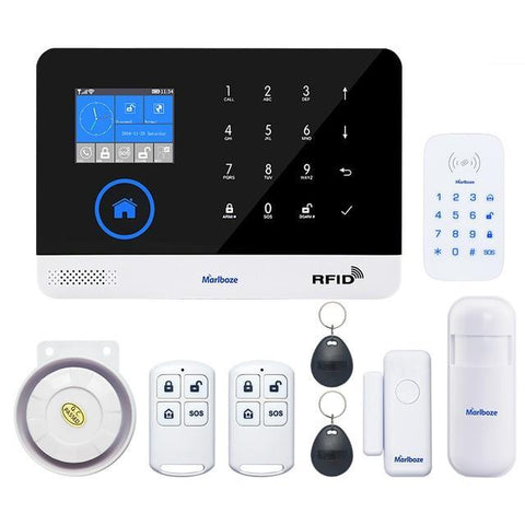 Marlboze Switchable Wireless WIFI GSM GPRS Home Security Alarm System PG-103 - Set E