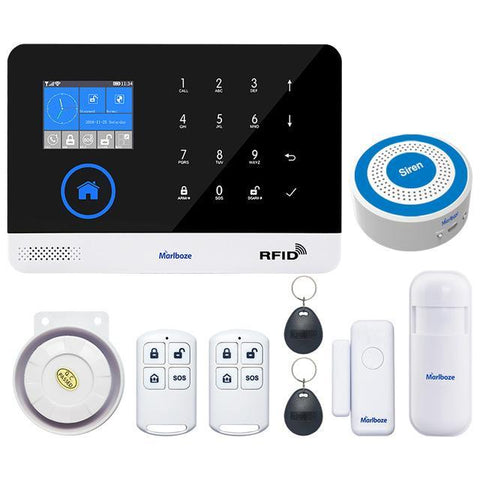 Marlboze Switchable Wireless WIFI GSM GPRS Home Security Alarm System PG-103 - Set F