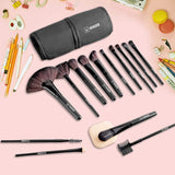 Free Shipping | 32pcs (Black) Professional Beauty Makeup Brush Set with Pouch Bag M980 Vander Life - iWynx