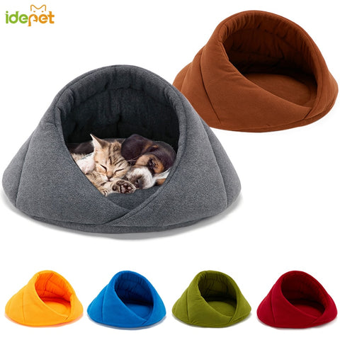 Warm Padded Cushioned Cave House for Cats and Dogs