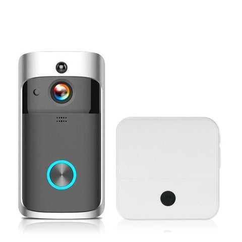 Free Shipping | 1080P Wireless Security Night Vision DoorBell Smart Visual Intercom - Black 1 KKMoon - Periwinkle Online