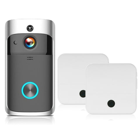 Free Shipping | 1080P Wireless Security Night Vision DoorBell Smart Visual Intercom - Black 2 KKMoon - Periwinkle Online