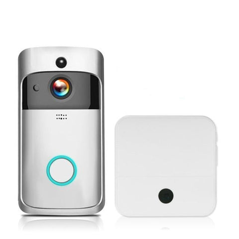 Free Shipping | 1080P Wireless Security Night Vision DoorBell Smart Visual Intercom - Silver 1 KKMoon - Periwinkle Online