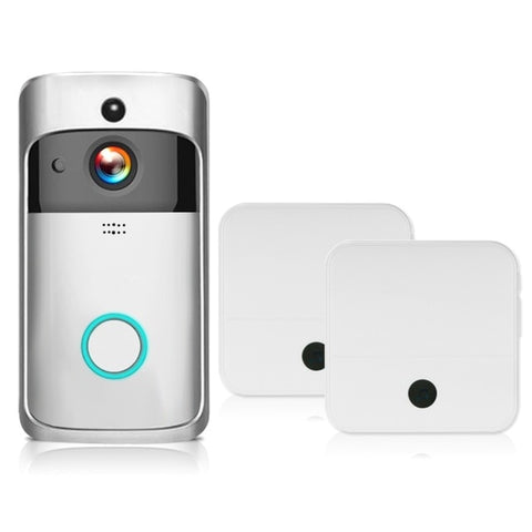 Free Shipping | 1080P Wireless Security Night Vision DoorBell Smart Visual Intercom - Silver 2 KKMoon - Periwinkle Online