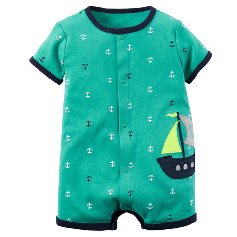 Summer Unisex Baby Rompers Fashion Short Sleeve Infant Jumpsuits