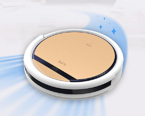 ILIFE V5s/v5pro robotic vacuum cleaner ASPIRADOR, Wet and Dry Clean, Self Charge - Periwinkle Online