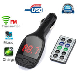 Wireless MP3 Player / FM Transmitter Modulator LCD Car Kit with USB Charger and Remote