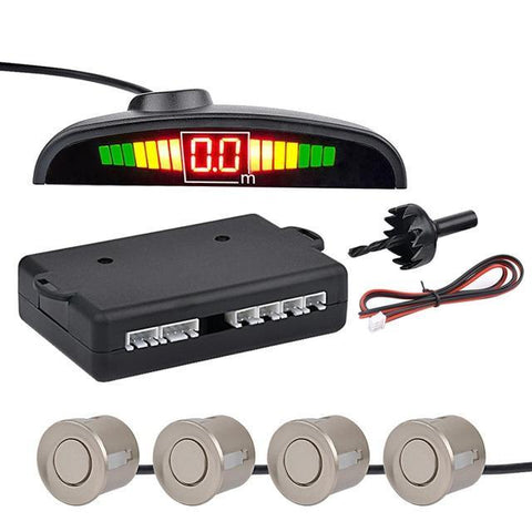 Gold Auto Parktronic LED Parking Sensor with 4 Sensors Reverse Parking Monitor Detector System