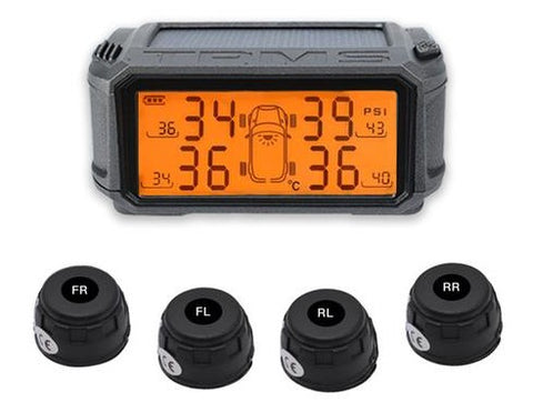 Car Console Solar M2-External Sensor Tire Pressure Alarm Monitoring System Wireless TMPS