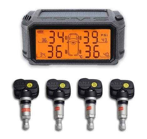 Car Console Solar M2-Internal Sensor Tire Pressure Alarm Monitoring System Wireless TMPS