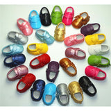 PU Leather born Unisex Shoes First Walkers Baby Moccasins 0-18 Months - 15 Colors