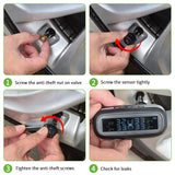 Dashboard/Windshield Solar M3-External Sensor Tire Pressure Alarm Monitoring System Wireless TMPS