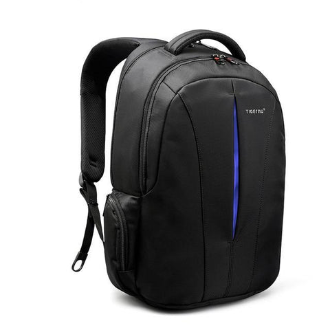 Tigernu TSA Anti Theft Unisex Waterproof 15.6inch Laptop Backpack - Black and Blue