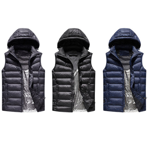 Unisex USB Electric Heated Winter Security Thermal Vest Jacket