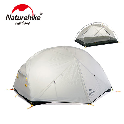 Naturehike 20D Nylon Fabic Double Layer Waterproof  3 Season Mongar Camping Tent for 2 Persons NH17T007-M
