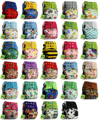 Free Shipping | BAMBOO CHARCOAL Washable Cloth Nappy Baby Diaper Wrap LittleBloom - iWynx