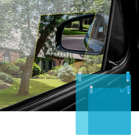 Free Shipping | 2 Sets Rainproof Anti Fog and Glare Car Side Window Protective Film 17877 Forauto - Periwinkle Online