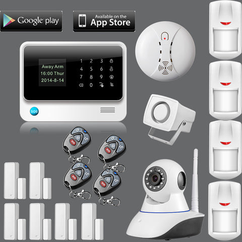 Internet GSM Home Alarm Security wireless ip camera Detector Sensor