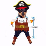 Pet Costume Play Puppy Role Play Cute Small Dog Pirates Suit